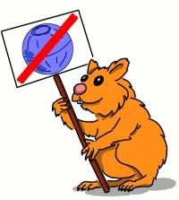 Hamster gegen Joggingball