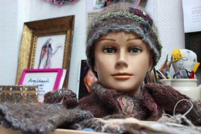 Mütze aus Katzenwolle