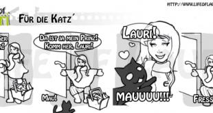 Katzencomic Zeichnung