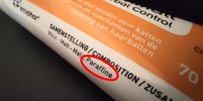 Parafin in Malzpaste für Katzen